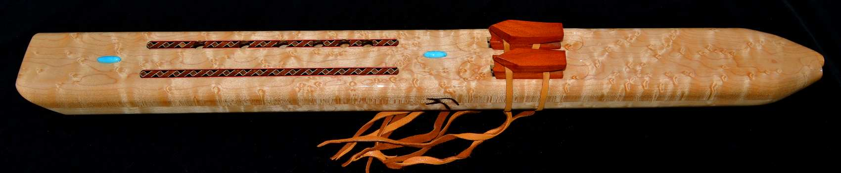Native American Birds Eye Maple Drone Flute by  Laughing Crow