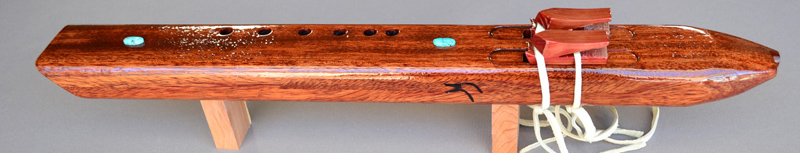 Native American Bubinga Drone  Flute by Laughing Crow