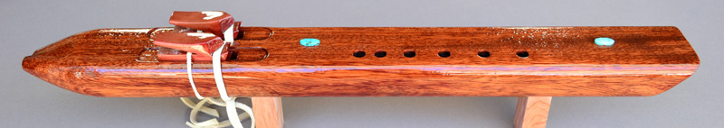 Tiger Maple, Bubinga, Purple Heart Native American  Flute by Laughing Crow