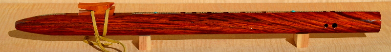 Cocobolo Inlaid Flute by Laughing Crow