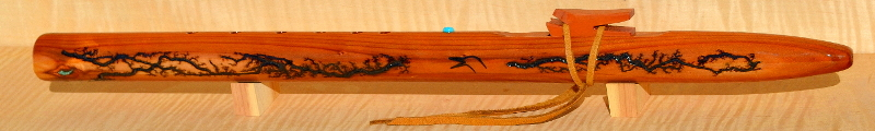 Redwood F-sharp Minor Fractal Flute by Laughing Crow