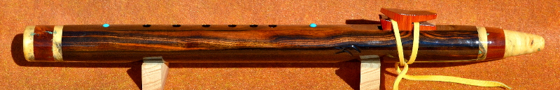 Mun Ebony F#m Flute by Laughing Crow