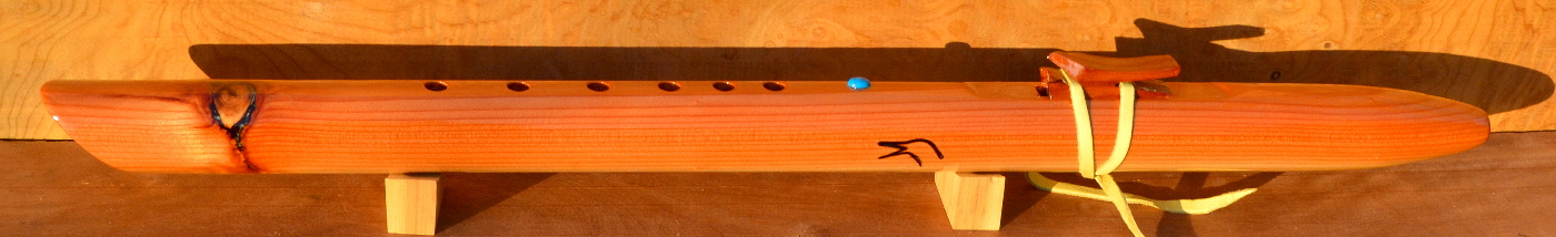 F-Sharp minor Redwood Flute with Knot
