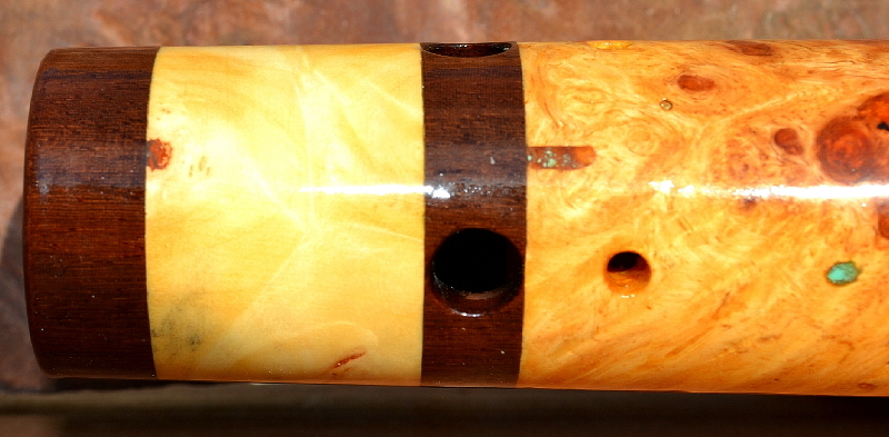Amboyna Burl Flute by Laughing Crow