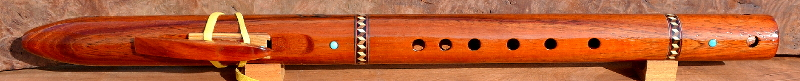 Curly Koa Inlaid Flute by Laughing Crow
