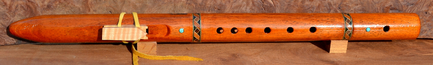 Koa Inlaid Flute by Laughing Crow