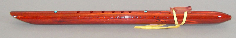 Native American Style Paduak Flute by Laughing Crow